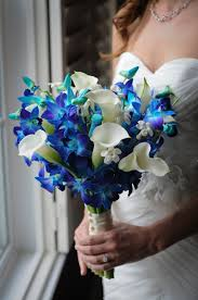 blue and purple orchids wedding ideas purple dendrobium orchids bouquet bridal of blue
