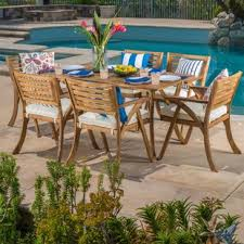 7pc Patio Dining Set Patio Dining Sets You Ll Wayfair