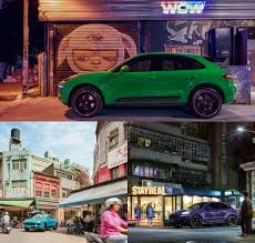 porsche viper green porsche asia pacific showcases highly individualised macan in