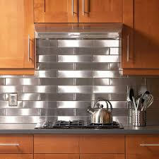 Stainless Steel Backsplash Edge Lowes Tile How To Install With - Stainless steel backsplash reviews