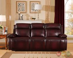 power recliner sofa leather genuine leather power recline sofa in deep red power headrest
