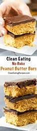 clean eating no bake peanut butter bars recipe gluten free