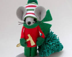 felt mice collectibles mouse ornaments whimsical decor by warmth