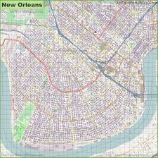 Map Of The French Quarter In New Orleans by New Orleans Maps Louisiana U S Maps Of New Orleans