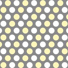 gray and yellow kid curtain panels with white polka dots 3