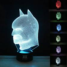 Kids Bedroom Lights Hui Yuan Batman 3d Lamp Room Bedroom Decorative Night Light Multi