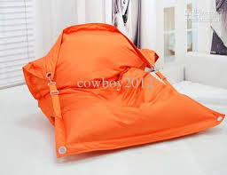 2017 fashion orange the original outdoor buggle up bean bags