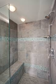 Cool Showers For Bathrooms Bathroom Shower In Cool Blue Tile Contemporary Bathroom