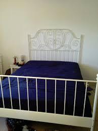 ikea leirvik 140x200 cm bed frame u0026 ikea hovag medium firm