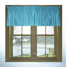 Blue Valance Curtains Solid Blue Tint Or Green Tint Turquoise Window Valance