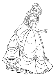 belle from beauty and the beast coloring pages glum me
