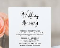 destination wedding itinerary template wedding timeline printable wedding itinerary template green