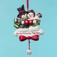 club pack of 12 snow 1st together ornaments for