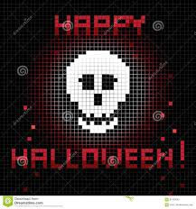 pixel halloween background pixel skull royalty free stock photo image 17635535