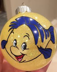 flounder ornament from the little mermaid by colocustomcreations