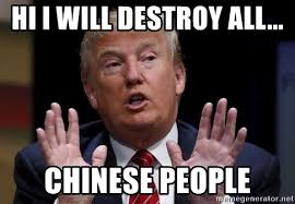 Chinese People Meme - hi i will destroy all chinese people donald trump hates china