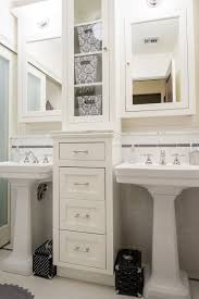 double pedestal sinks with storage drawers in between renovate