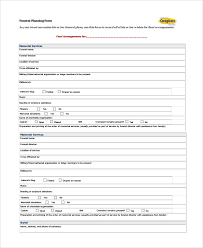 funeral planning checklist sle funeral obituary template 11 documents in pdf psd word