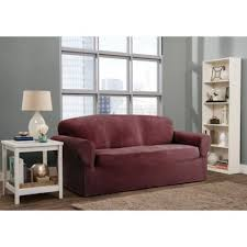 one piece stretch sofa slipcover buy burgundy sofa slipcovers from bed bath beyond