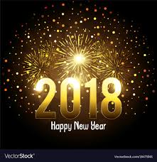 happy new year post card happy new year 2018 postcard royalty free vector image