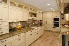 White Kitchen Cabinet Design Kitchen Antique White Kitchen Cabinets With Black Granite