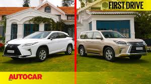 lexus car models prices india lexus rx450h u0026 lx450d first drive autocar india youtube