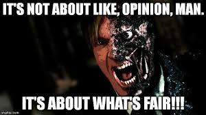 Horror Face Meme - image tagged in big lebowski dark knight two face batman opinion