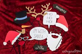 christmas photo booth props christmas photo booth props with free cut file unoriginal