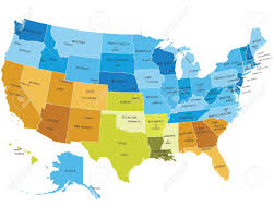 map usa and states usa states map with names of cities royalty free cliparts vectors