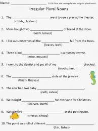 irregular plural nouns worksheet nouns worksheets irregular nouns