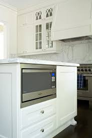 kitchen island with microwave hide a clunky microwave inside the kitchen island where visitors