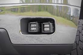 2008 dodge ram 1500 led fog lights 2 inch square cree led fog light kit for 11 14 chevrolet silverado