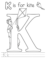 k is for kite coloring page image clipart images grig3 org