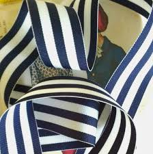 navy blue and white striped ribbon navy blue and white striped ribbon striped nautical ribbon
