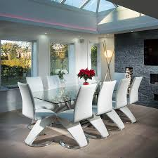 10 seat dining room set modern large 10 seater glass stainless steel dining table 240 x
