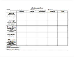 sample lesson plan templates templates franklinfire co