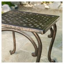 Christopher Knight Patio Furniture Reviews Mckinley Set Of 2 Cast Aluminum Patio End Tables Copper