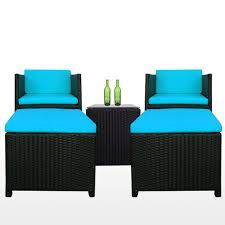 Blue Patio Chairs Splendor Patio Set Blue Cushion Home Style Stupendous Image