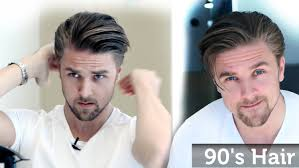 men u0027s 90 u0027s hairstyle inspiration wavy bangs youtube