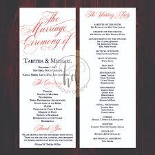 Traditional Wedding Program Hadley Designs Programs