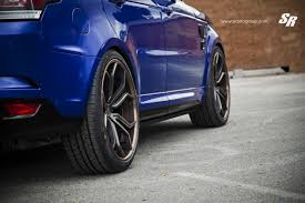 range rover sport blue range rover sport svr on pur wheels british swag autoevolution