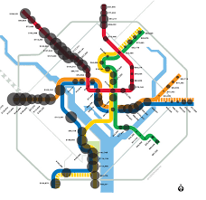 washington subway map the economy d c s richest and poorest metro stops