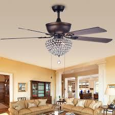 ceiling fans antique bronze swarna antique bronze 3 light metal crystal 5 blade 52 inch ceiling
