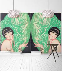 mirrored burlesque wall mural from the erstwhile collection by mirrored burlesque wall mural from the erstwhile collection by milton king