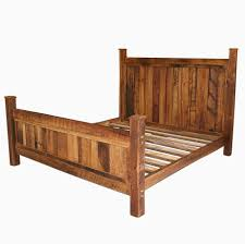buy a handmade cabin style reclaimed wormy chestnut bed frame