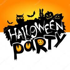halloween party background happy halloween party text u2014 stock vector whynotme cz 108893750