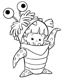 cute boo monster coloring pages templates monsters