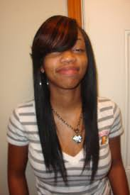 straight sew in hairstyles with side bangs places to visit
