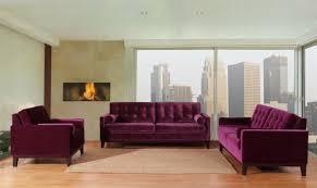 Tufted Living Room Set Purple Velvet Living Room Furniture Xnron Cradle Design Purple