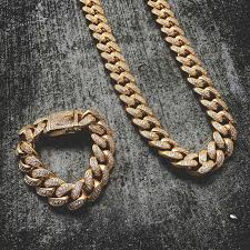 cuban link necklace images 19mm diamond cuban link necklace bracelet bundle the gld shop jpg